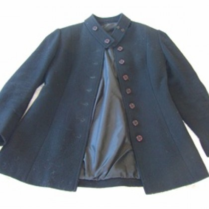 1950s black wool jacket relined