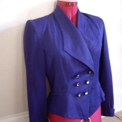 toile blue jacket
